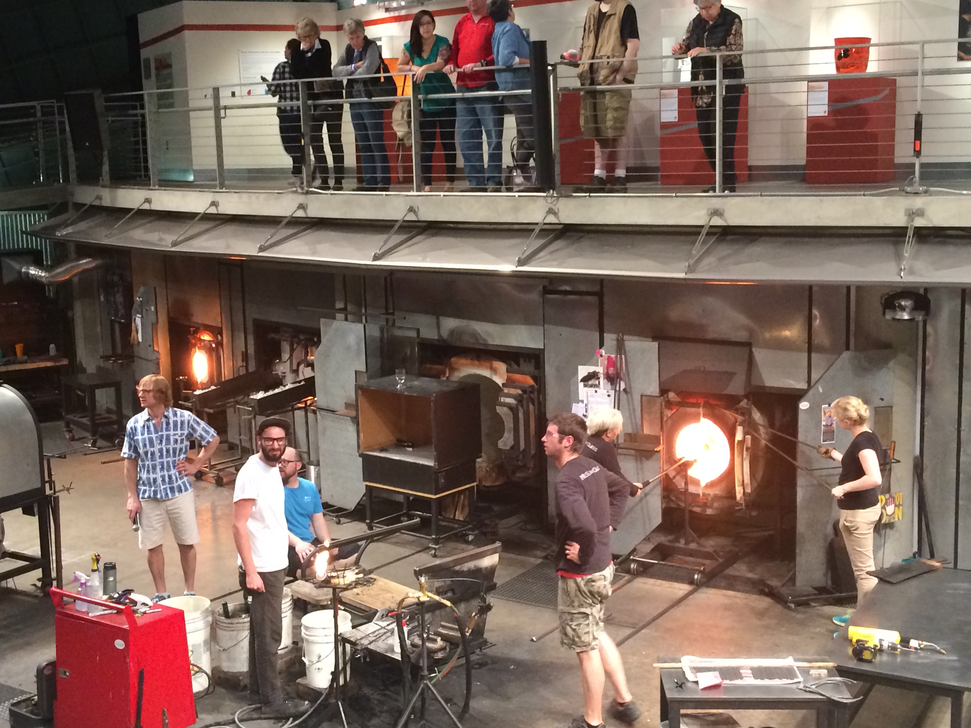 Getting up close with the glass blowers