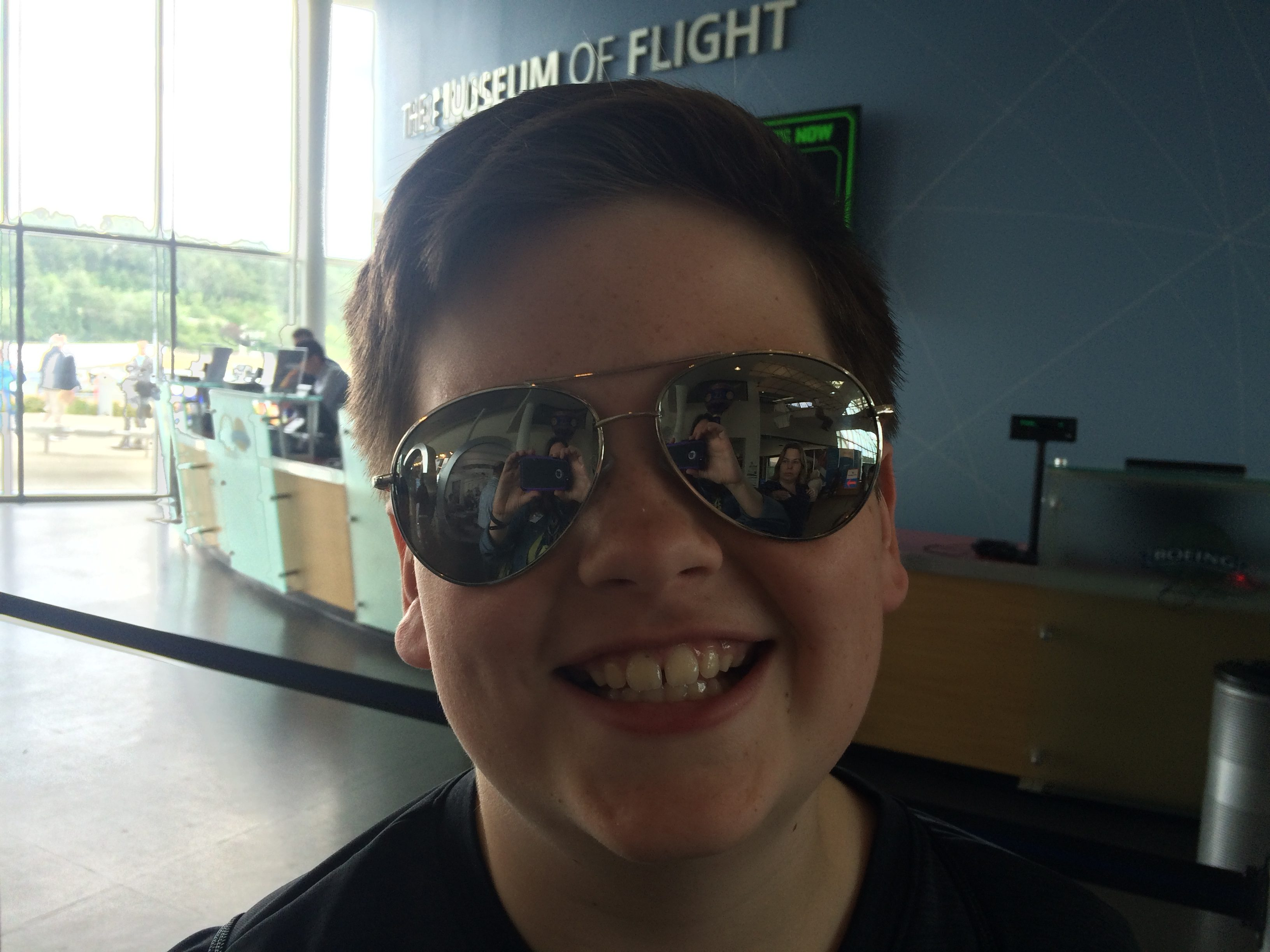 Aviator sunglasses, a solid souvenir from the Museum of Flight