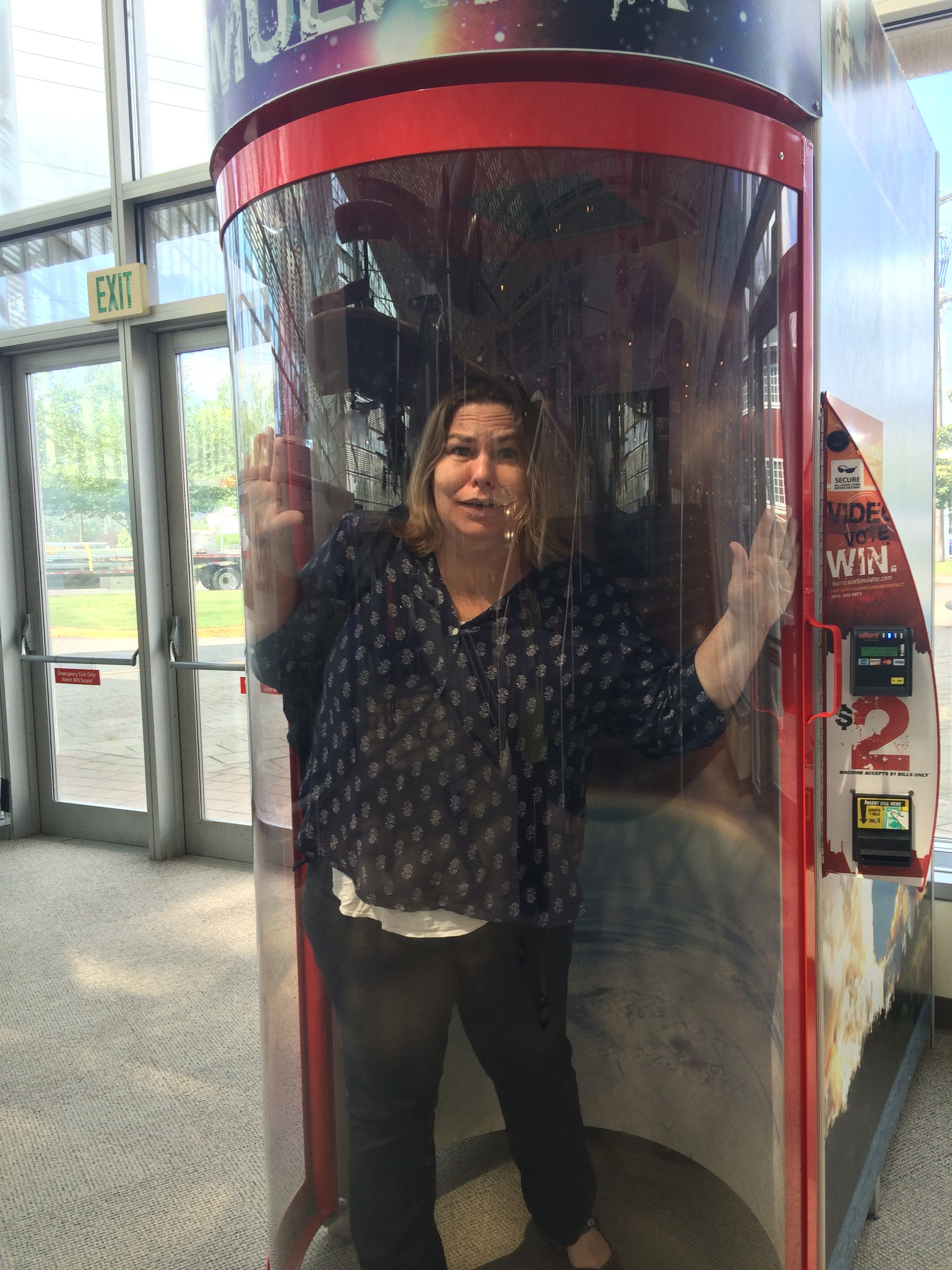 Inside the hurricane simulator