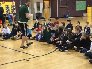 Nat Borchers from the Portland Timbers came for a visit.