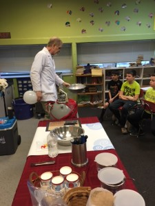 Rick From SubZero showing us the various properties of liquid nitrogen