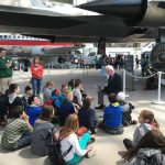 Preparing to tour the Museum of Flight